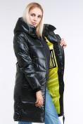 Оптом Куртка зимняя женская молодежная темно-зеленого цвета 9179_13TZ в  Красноярске, фото 8