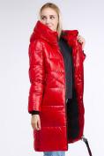 Оптом Куртка зимняя женская молодежная красного цвета 9179_14Kr в Нижнем Новгороде, фото 3