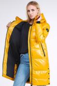 Оптом Куртка зимняя женская молодежная желтого цвета 9179_40J в Казани, фото 2
