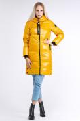 Оптом Куртка зимняя женская молодежная желтого цвета 9179_40J в Казани