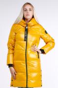 Оптом Куртка зимняя женская молодежная желтого цвета 9179_40J в Казани, фото 3
