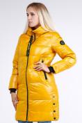 Оптом Куртка зимняя женская молодежная желтого цвета 9179_40J в Казани, фото 4