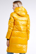 Оптом Куртка зимняя женская молодежная желтого цвета 9179_40J в Казани, фото 5