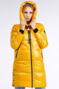 Оптом Куртка зимняя женская молодежная желтого цвета 9179_40J в Казани, фото 6