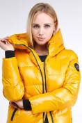 Оптом Куртка зимняя женская молодежная желтого цвета 9179_40J в Казани, фото 7