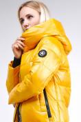 Оптом Куртка зимняя женская молодежная желтого цвета 9179_40J в Казани, фото 8