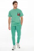 Оптом Костюм джоггеры с футболкой салатового цвета 9181Sl, фото 2
