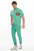 Оптом Костюм джоггеры с футболкой салатового цвета 9181Sl, фото 3