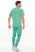 Оптом Костюм джоггеры с футболкой салатового цвета 9181Sl, фото 5