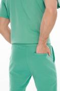 Оптом Костюм джоггеры с футболкой салатового цвета 9181Sl, фото 9
