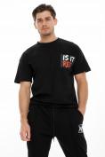 Оптом Костюм джоггеры с футболкой черного цвета 9181Ch, фото 6
