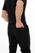 Оптом Костюм джоггеры с футболкой черного цвета 9181Ch, фото 8