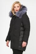 Оптом Куртка зимняя женская молодежная черного цвета 92-955_701Ch в Екатеринбурге, фото 3
