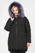 Оптом Куртка зимняя женская молодежная черного цвета 92-955_701Ch в Екатеринбурге, фото 6