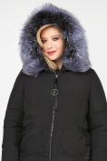 Оптом Куртка зимняя женская молодежная черного цвета 92-955_701Ch в Екатеринбурге, фото 7