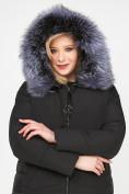 Оптом Куртка зимняя женская молодежная черного цвета 92-955_701Ch в Екатеринбурге, фото 8