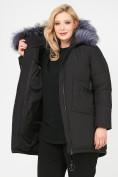 Оптом Куртка зимняя женская молодежная черного цвета 92-955_701Ch в Екатеринбурге, фото 9