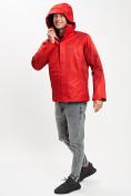 Оптом Куртка демисезонная 3 в 1красного цвета 93213Kr в Екатеринбурге, фото 4