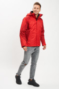 Оптом Куртка демисезонная 3 в 1красного цвета 93213Kr в Екатеринбурге, фото 3