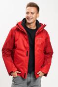 Оптом Куртка демисезонная 3 в 1красного цвета 93213Kr в Екатеринбурге, фото 16