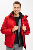 Оптом Куртка демисезонная 3 в 1красного цвета 93213Kr в Екатеринбурге, фото 10
