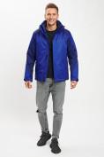 Оптом Куртка демисезонная 3 в 1 синего цвета 93213S в Екатеринбурге, фото 3