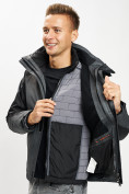 Оптом Куртка демисезонная 3 в 1серого цвета 93213Sr в Екатеринбурге, фото 7