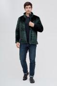 Оптом Куртка велюровая классическая Valianly темно-зеленого цвета 93352TZ в Екатеринбурге, фото 2