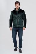 Оптом Куртка велюровая классическая Valianly темно-зеленого цвета 93352TZ в Екатеринбурге