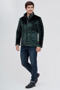 Оптом Куртка велюровая классическая Valianly темно-зеленого цвета 93352TZ в Екатеринбурге, фото 3