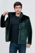 Оптом Куртка велюровая классическая Valianly темно-зеленого цвета 93352TZ в Екатеринбурге, фото 8