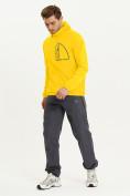 Оптом Ветровка спортивная Valianly мужская желтого цвета 93419J в Екатеринбурге, фото 9