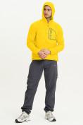 Оптом Ветровка спортивная Valianly мужская желтого цвета 93419J в Екатеринбурге, фото 11