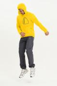 Оптом Ветровка спортивная Valianly мужская желтого цвета 93419J в Екатеринбурге, фото 2