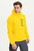 Оптом Ветровка спортивная Valianly мужская желтого цвета 93419J в Екатеринбурге, фото 4