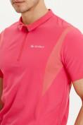 Оптом Футболка поло мужская розового цвета 93424R в Екатеринбурге, фото 4