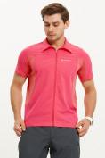 Оптом Футболка спортивная поло Valianly мужская розового цвета 93426R, фото 2