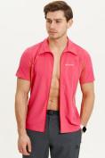 Оптом Футболка спортивная поло Valianly мужская розового цвета 93426R, фото 5