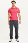 Оптом Футболка спортивная поло Valianly мужская розового цвета 93426R, фото 7