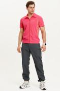 Оптом Футболка спортивная поло Valianly мужская розового цвета 93426R, фото 10