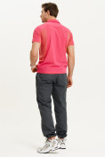 Оптом Футболка спортивная поло Valianly мужская розового цвета 93426R, фото 9