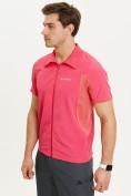 Оптом Футболка спортивная поло Valianly мужская розового цвета 93426R, фото 11