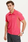 Оптом Футболка спортивная поло Valianly мужская розового цвета 93426R, фото 4