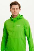 Оптом Анорак ветровка Valianly мужская зеленого цвета 93430Z в Казани, фото 4