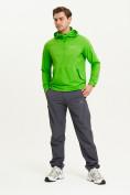 Оптом Анорак ветровка Valianly мужская зеленого цвета 93430Z в Казани, фото 9