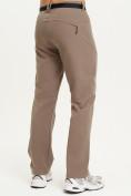 Оптом Спортивные брюки Valianly мужские коричневого цвета 93434K в Екатеринбурге, фото 2