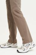 Оптом Спортивные брюки Valianly мужские коричневого цвета 93434K в Екатеринбурге, фото 6