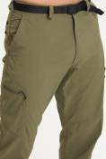 Оптом Спортивные брюки Valianly мужские хаки цвета 93435Kh в Екатеринбурге, фото 7