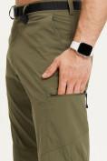 Оптом Спортивные брюки Valianly мужские хаки цвета 93435Kh в Екатеринбурге, фото 8