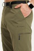 Оптом Спортивные брюки Valianly мужские хаки цвета 93435Kh в Екатеринбурге, фото 9